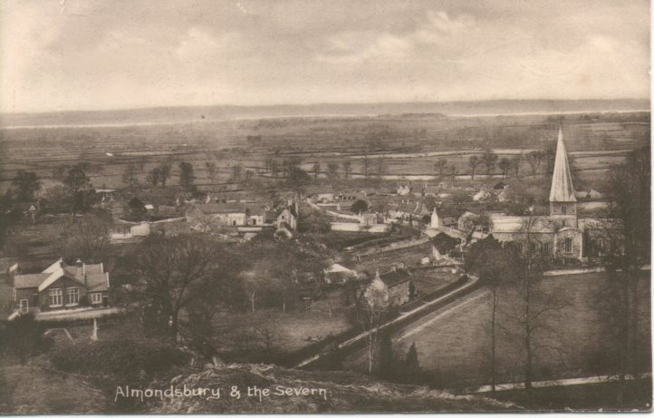 View of Almonsbury village and Severn pre 1930