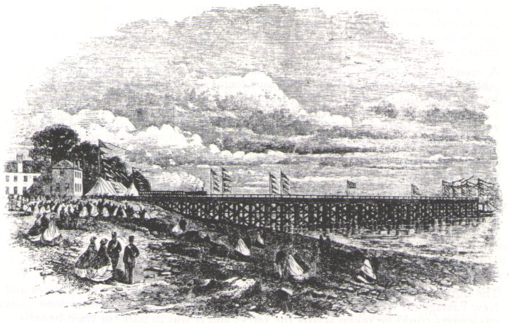 View of New Passage pier opening 1863