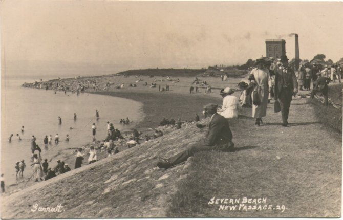 1922 view of sea wall - Click on picture for 2004 view