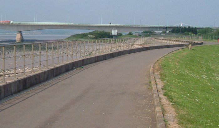 2004 view of sea wall - Click on picture for 1922 view